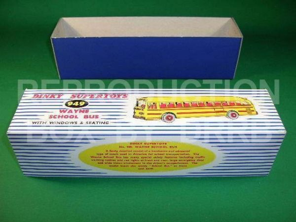 Dinky #949 Wayne School Bus - Reproduction Box